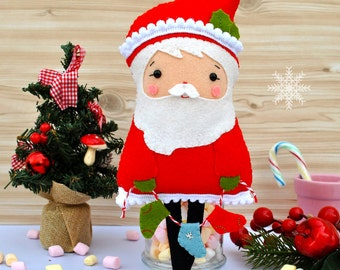 Santa Claus doll Collectible Santa toy Santa Claus figurine Christmas decoration New Year Christmas gift Holiday ornament 100% eco wool felt