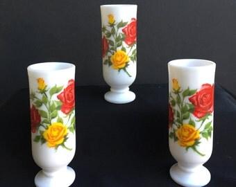 Set of 3 Avon Milk Glass Dimitasse Mugs