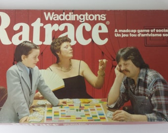 Vintage Ratrace Board Game - 1970 - A Classic Madcap Game of Social Climbing by Waddingtons