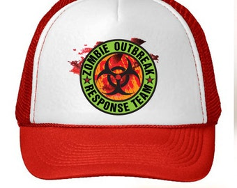Zombie Outbreak Response Team Color Trucker Hat