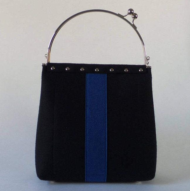 Sporty Chic Wool Felt Handbag