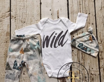 Baby Boy Coming Home Outfit, newborn boy coming home outfit, adventure awaits,newborn boy,wild, boho, woodland