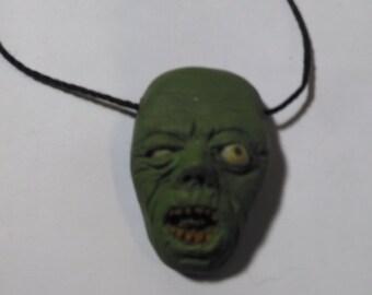 OOAK Zombie Pendant Necklace