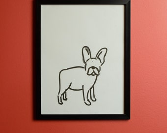 French Bull Dog Print