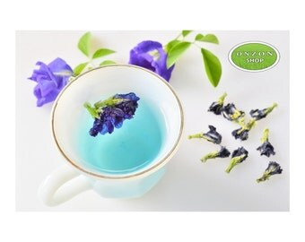 Dried Organic Butterfly Pea Flowers for tea, beverage, drink, natural food coloring