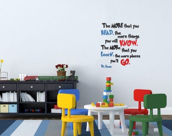 The More You Read Decal-Square~Dr. Seuss Wall Decal