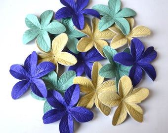 leather lily flowers set of 15pcs