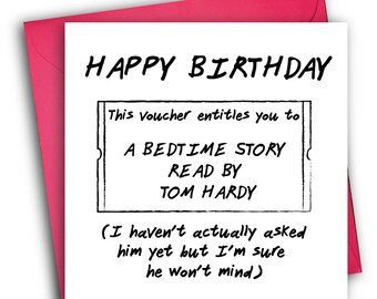 Tom Hardy Birthday Card/Funny Birthday Card/ Greetings