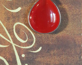 GORGEOUS RED PENDANT  - Perfect for the Holidays !!  Or Everyday Wear !!!