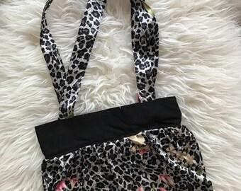 Leopard print hangbag, rockabilly bag, rock 'n roll bag