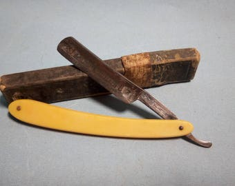 "RARE Boker ""King Cutter"" Straight Razor with Box, 1920's"