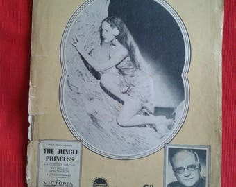 Dorothy Lamour  //  Sheet Music  //  1936 Film The Jungle Princess  // Collectable Vintage.