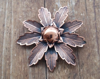 Copper Bell Flower Brooch