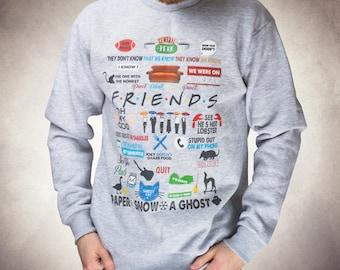 Friends sweatshirt Unisex sweatshirt Birthday gift Funny sweatshirt Friends tv show shirt Friends tv show sweatshirt  90th tv show 014