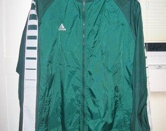 STOREWIDE SALE 50% OFF Vintage Adidas green varigated jacket Mens medium