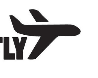 I FLY decal 5x5 in