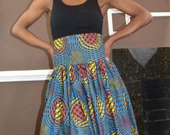 Authentic, Ankara Maxi Skirt - Size 2