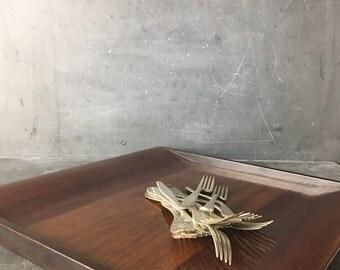 mid century wooden tray