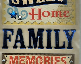 Home Family K&Company Chipboard Stickers Scrapbook Embellishments Cardmaking Crafts