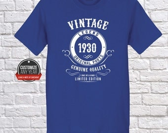 Vintge  87th birthday, 87th birthday gifts for women, 87th birthday gift, 87th birthday t-shirt, 1930, 87th birthday gift for mens, 1930