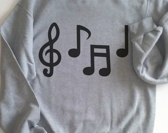 music note shirt, music notes, music notes shirt, music shirt, music shirt, note t-shirt, music teacher gift, Plus size too! Gray or White