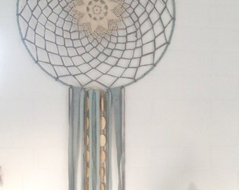 Dream catcher Dreamcatcher light blue grey turquoise Eco