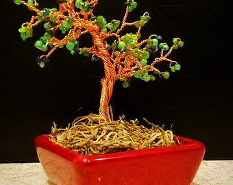 Small wire wrapped bonsai tree