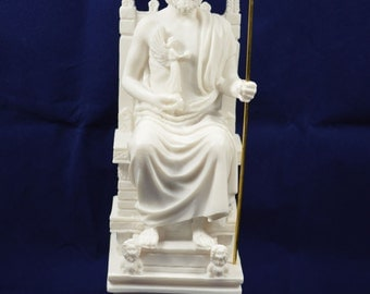 Zeus sculptureThrone staue ancient Greek God king of all gods