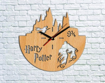 Harry Potter Wall clock Wood clock Ideas for kids gift Harry Potter Gift Ideas Valentines gifts Children clock