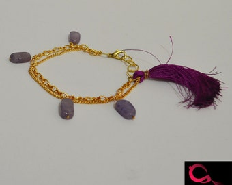 Ethnic Chain and bead bracelet