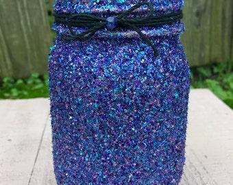 blue multicolor jar