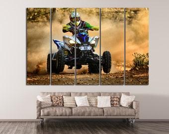 Quad Biker /ATV Canvas Print Atv Wall Art Set ATV Panel Art ATV Canvas Set Atv Large Art Atv Poster Pring atv Multi Panel Art atv Wall Decor
