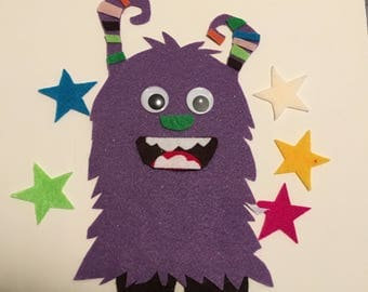 Star Monster Felt/Flannel Board Story for Early Childhood Education