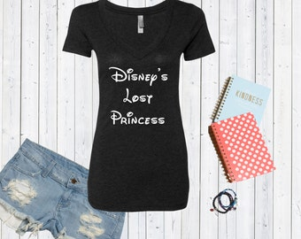 Disney's Lost Princess Disney Inspired V neck Tshirt / High Quality Disneyland Tshirt / Disneyworld Custom Shirt [E0289,E0203]