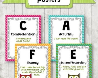 CAFE Wall Headers for Reading Instruction