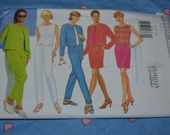Butterick 4510  Misses / Misses Petite Jacket Top Skirt and Pants Sewing Pattern - UNCUT - Size 12 14 16