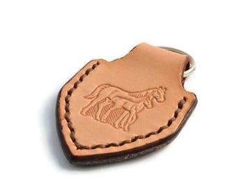Mare and Colt Handmade Leather Keyring / Keyfob