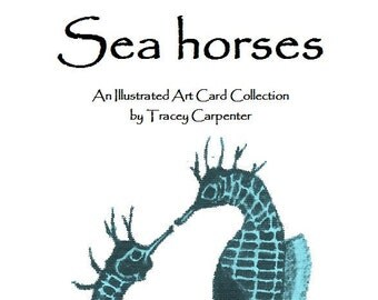 Sea Horses - An illustrated art card collection