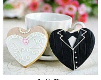 12 Bride & Groom Getting Married Decorated Sugar Cookies Baked Goods Sugar Cookie Handmade Cookies Decorated Wedding Cookies Wedding Favors