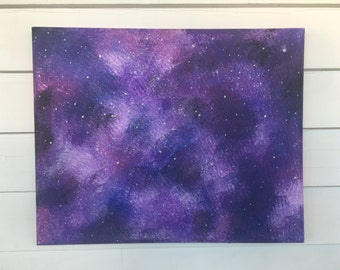 Galaxy painting etsy for How to paint galaxy