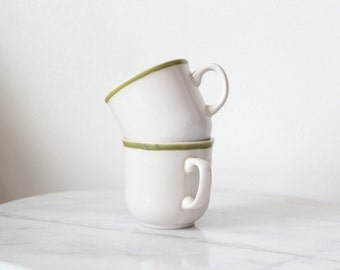 Vintage Pair of Coffee Mugs | Tea Cups | Stoneware | Tablescape | Dining | Mother's Day | Father's Day | Gifts for Him | Gifts for Him