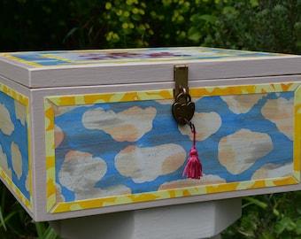 Decorated baby memory box
