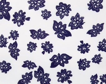 Windham Fabric Low Country Indigo - Tossed Flowers by Nancy Gere - Sold by the Yard