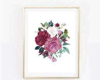 Floral Spray Print