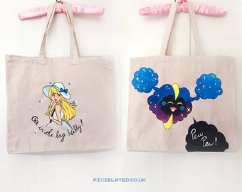 Lillie Cosmog Painted Tote Bag