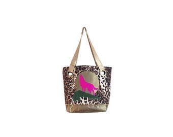 one123one Leopard Wolf Tote
