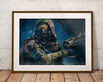 Destiny Painting Print. Destiny Hunter Poster. Destiny Poster. All Classes available and Large sizes in store.