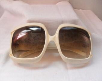 Vintage original vintage sunglasses, 50 years, Sun glasses, sunglasses 1950 Italian white, 50 years