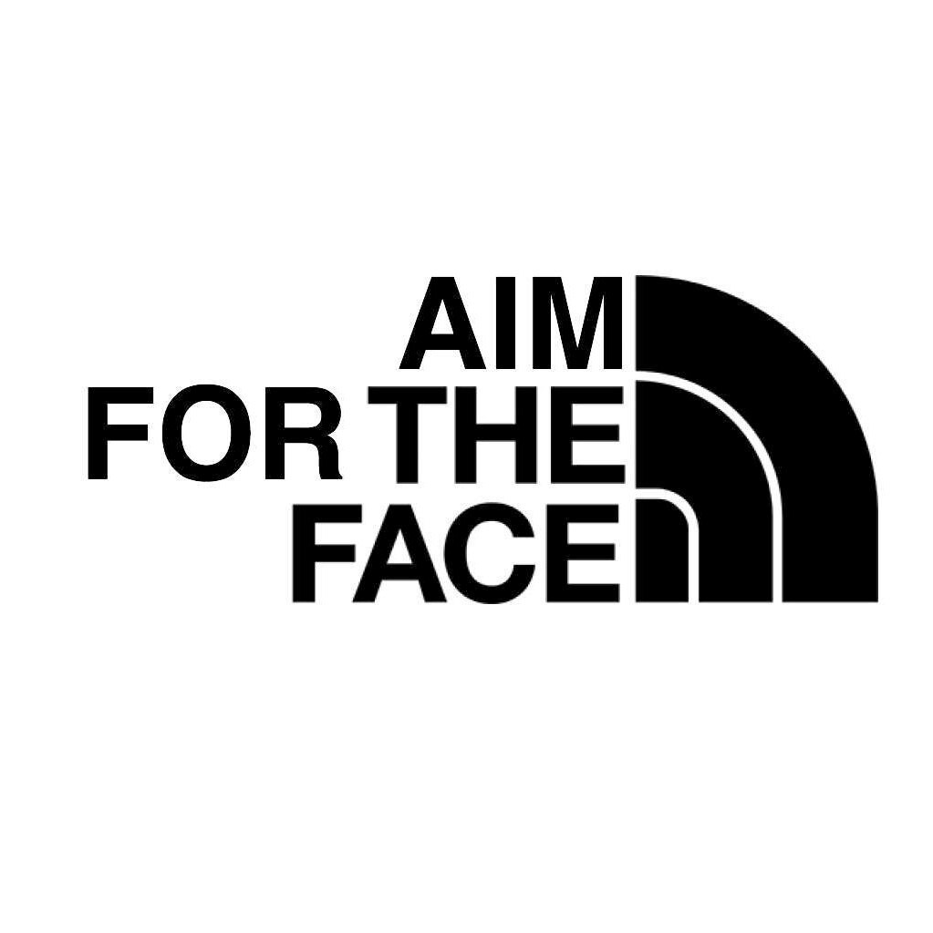 vinyl decal  u0026 39 aim for the face u0026 39