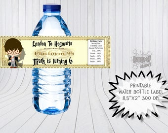 Harry Potter water bottle labels, Harry Potter birthday labels, Harry Potter water bottle wraps, Harry Potter labels, Harry Potter party